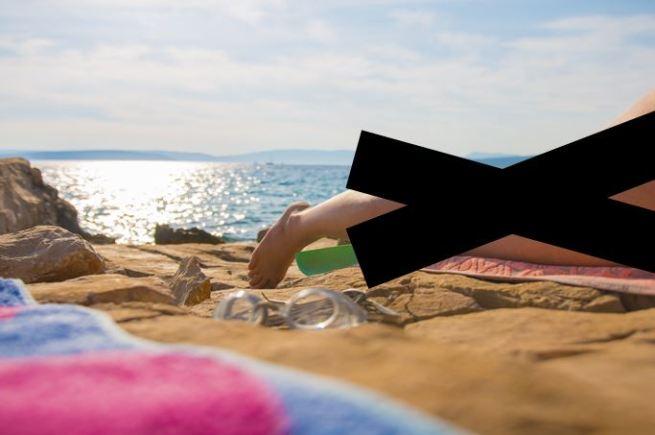 Urlaubsfoto zensiert